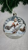 LARGE BALL Christmas Hand Painted LED Decoration