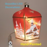 LANTERN Christmas Hand Painted LED Decoration